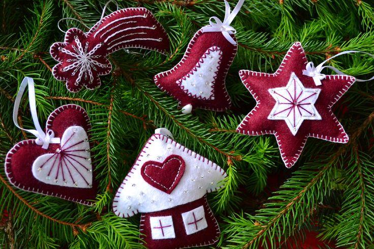 Красивые новогодние игрушки из фетра: идеи и выкройки