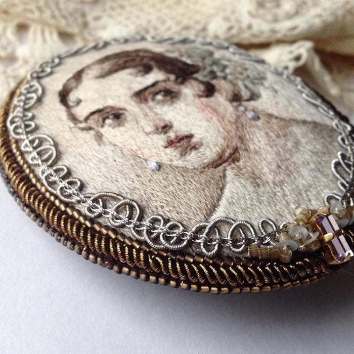 Вышивка гладью - настоящие миниатюрные шедевры Марии Васильевой