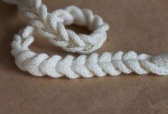 Интересный метод вязания косички без провязывания перекрещенных петель