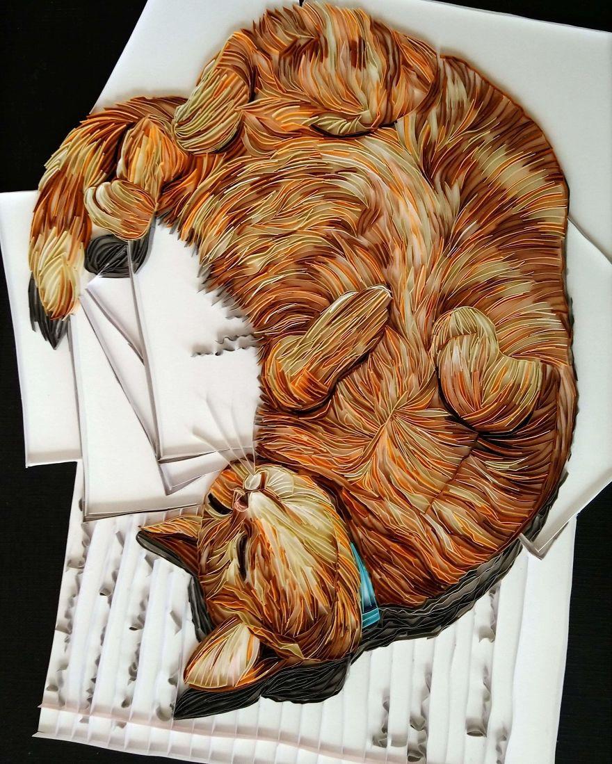 Потрясающие картины в технике квиллинга от Бекой Стоунфокс