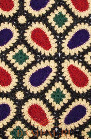 Шикарный плед из мотивов «Valley Vineyard Throw»: схема вязания