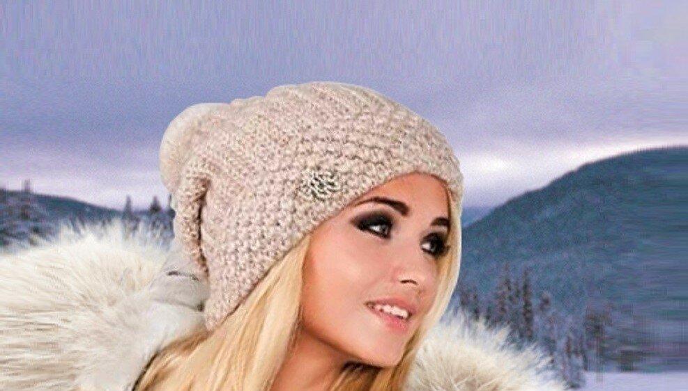 3 красивые модные шапки, связанные английской резинкой (с описанием)